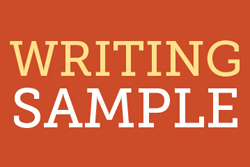 Newsletter-Writing Sample